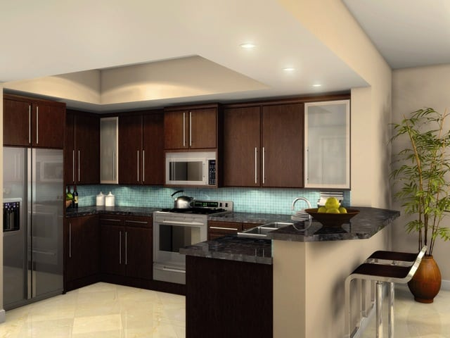 The strand luxury condos downtown clearwater offering for Modern condo kitchens