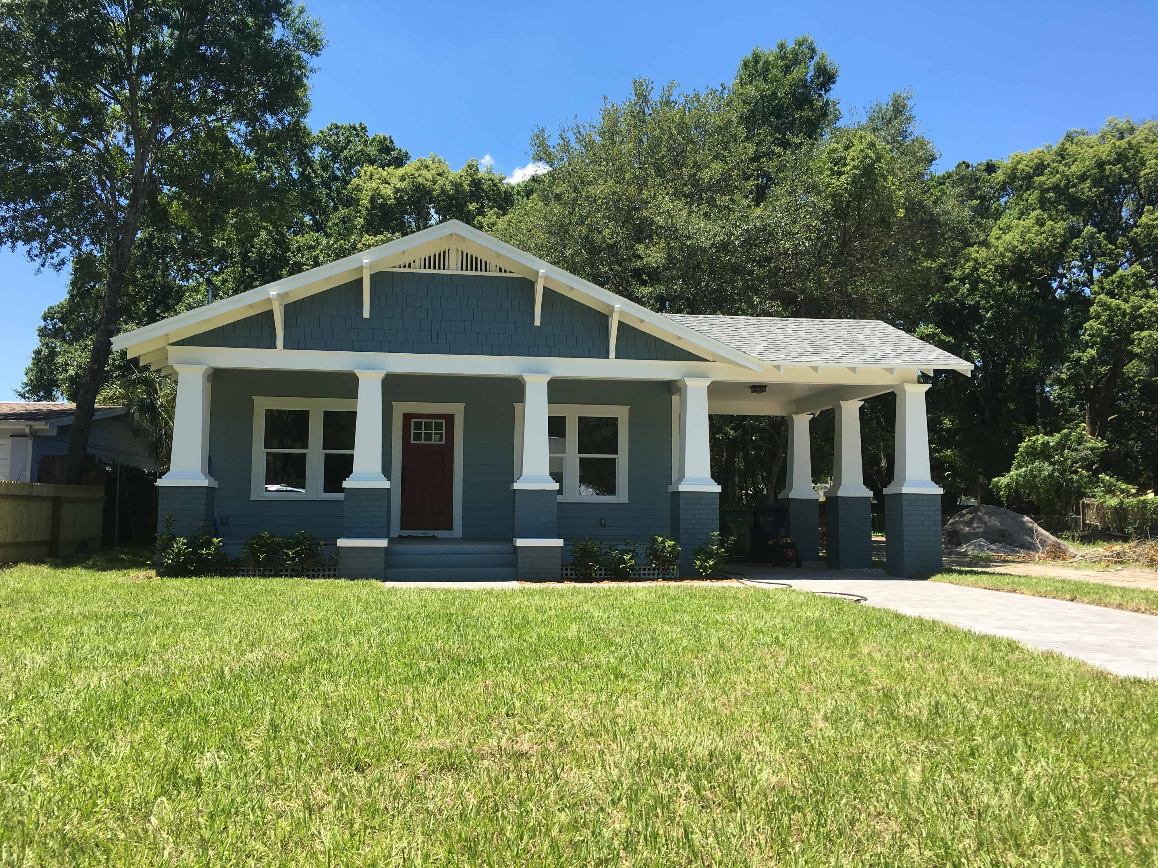 New construction homes in tampa heights seminole heights for Contractors for building homes