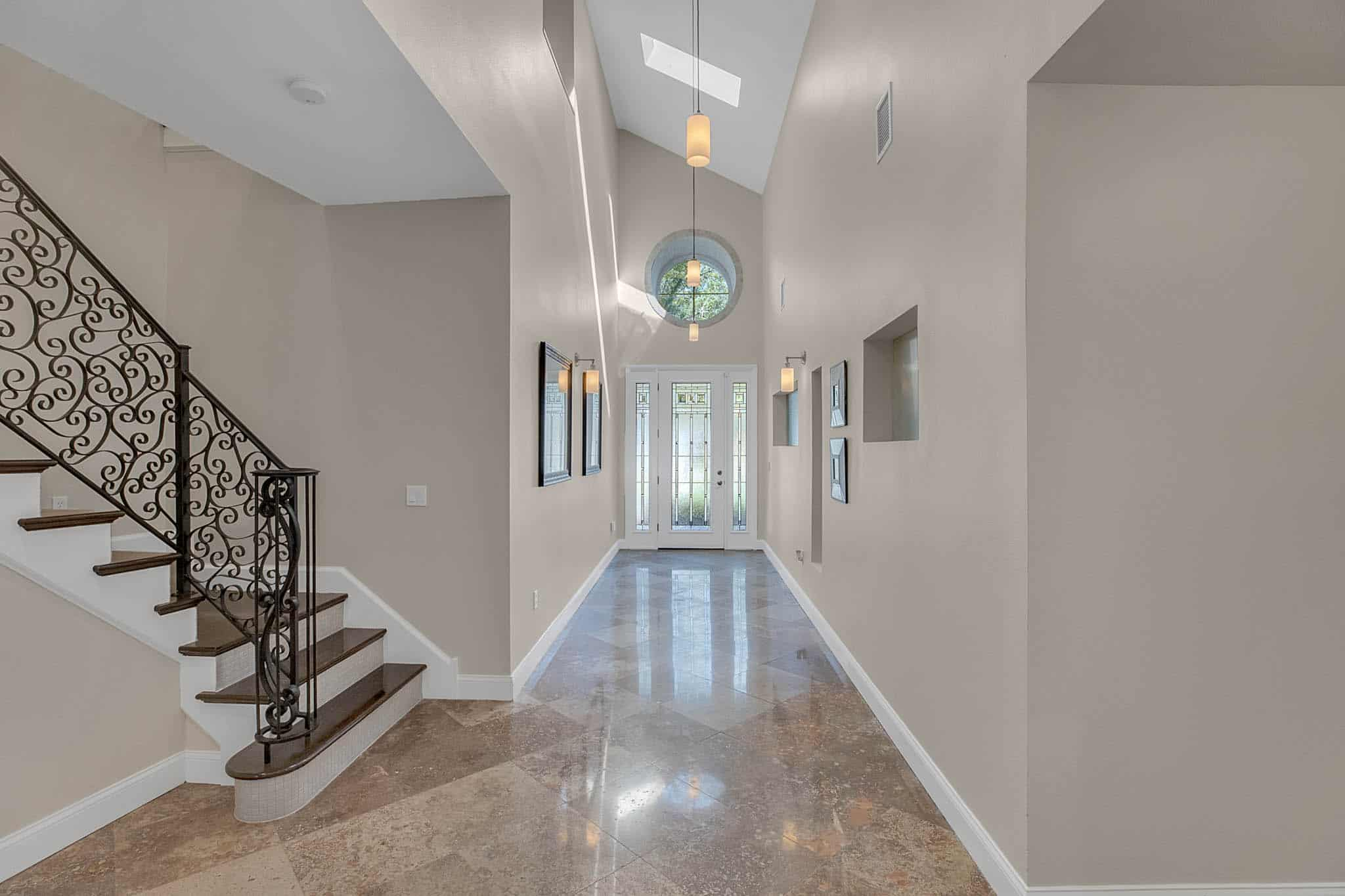 Grand Foyer with 18' Ceilings and Skylights
